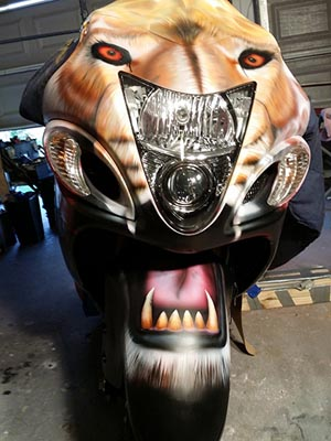 Custom Airbrushed Suzuki Hayabusa