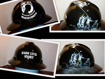Marine Corp custom hard hat